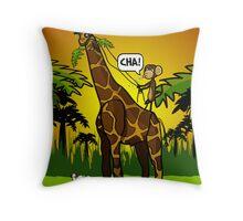 Cha Giraffe  Throw Pillow