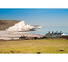 Seven Sisters from Cuckmere Haven: East Sussex. UK. Photographic Print