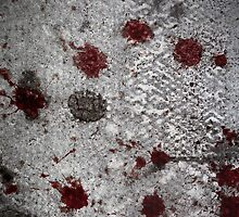 Blood on the Pavement - London by Roy Salter