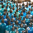 Blue Bottles by Christine Wilson