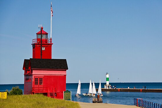 &quot;Big Red&quot; Lighthouse in Holland, Michigan by Robert Kelch, M.D.