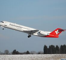 Helvetic Airlines Fokker 100 by lerch