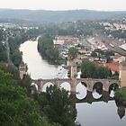 Valentre bridge (Cahors, France) by Christine Oakley
