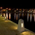 East Perth at night by Nigel Donald