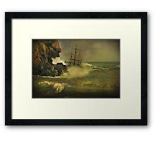 Shipwrecked !! Framed Print