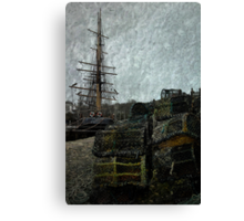 Pots, Masts & Rigging Canvas Print