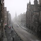 Snowing on the Royal Mile, Edinburgh by MikeyLee
