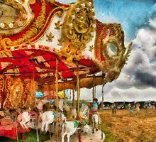 Amusement - The Merry-go-round by Mike  Savad