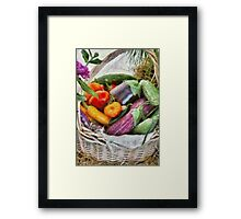 Farm - Fresh Vegetables Framed Print