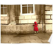 Little Girl in Red Riding Hood outfit Poster
