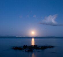 Coromandel moonset 2 by Paul Mercer