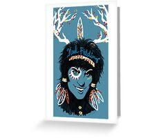 Noel Fielding: Blue Diamonds Greeting Card