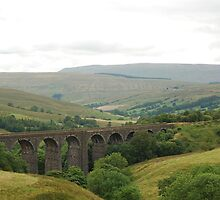 Settle-Carlisle Railway - Dent railway viaduct by Futurama