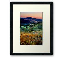 Sunset over an Andalucian Landscape, Spain. Framed Print