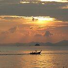 Dusk over Ao Nang Beach Southern Thailand by Adrienne Bartl