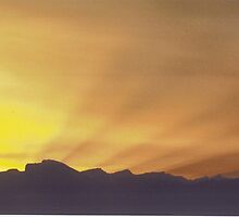 Waynepowell Easter Sunrise  over Mt Whitney by David M Scott