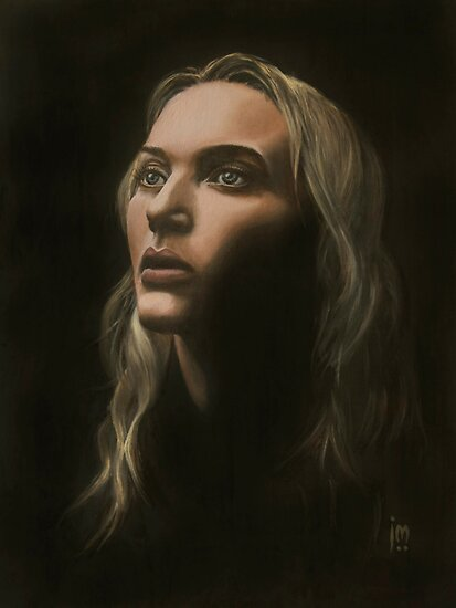 """Kate"" Portrait in Oils by John D Moulton"