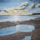 Kimmeridge Sunset by Annie Lovelass