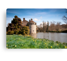 Springtime at Scotney Castle: Kent Canvas Print