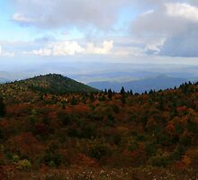 Blue Ridge Parkway in Fall Colors by middleofaplace