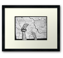 Body Maps - London - Feet Framed Print