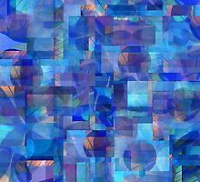 Abstract Composition in Shades of Blue With Accents of Other Colors –  April 11, 2010   by Ivana Redwine