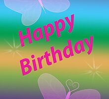 Happy Birthday Girl Card by Julia Harwood