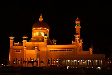 Sultan Omar Ali Saifuddin Mosque, Brunei 1 by Philip Alexander