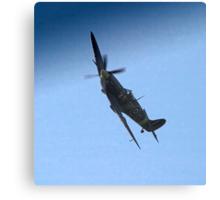 Spitfire banking Canvas Print