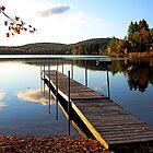 Autumn - Keoka Beach -- Waterford,  Maine by T.J. Martin