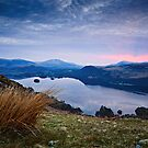Pre-Sunrise Glow - Derwent Water, Cumbria by David Lewins LRPS