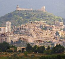 The Sun Shines on Assisi by Blagnys