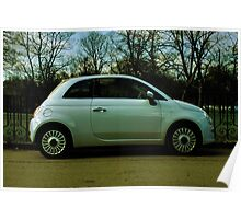 Fiat 500 Parked Poster
