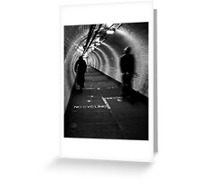Foot Tunnel Greeting Card