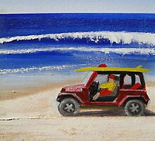 Beach Series - Life guard jeep by Tash  Luedi Art