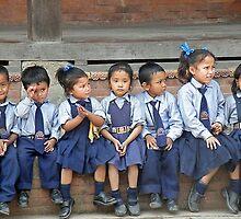 school children in Nepal by Matt Eagles