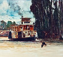 Emmy Lou - Paddle Steamer by Pieter  Zaadstra