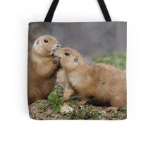 Kiss me Quick! (Black-Tailed Prairie Dogs) Tote Bag