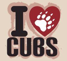 I heart Cubs by Alexander Evans