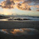 Cloud reflections - Jakes Point Kalbarri by Miriam Shilling