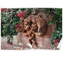 Dragon Fountain Poster