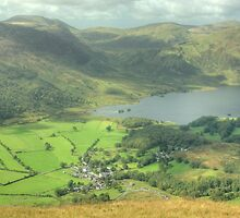 Buttermere Village and Crummock Water by VoluntaryRanger