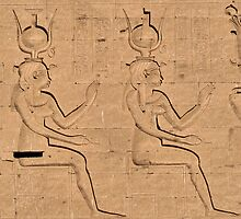 Hieroglyphs at Edfu Temple 4 by rhallam