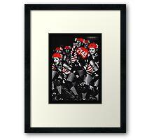 Roller Derby Girls Framed Print