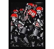 Roller Derby Girls Photographic Print