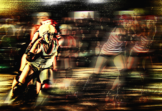 Roller Derby Girls II by David Rozansky