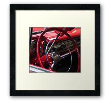 Symphony in Red vintage car Framed Print