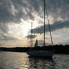 Sailboat Sunset by kaitonthekeys