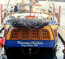 Hawaiian Chieftain Stern by Lynn Bawden