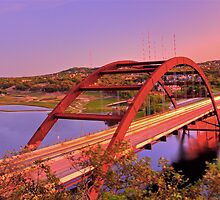 Austins 360 Bridge at Dusk by ijam357
